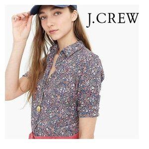 J. Crew Liberty of London Floral Kayoko Shirt, 8